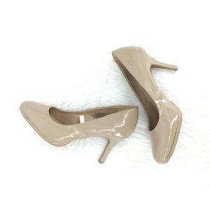Merona Shoes Women 11 Heels Nude Classic Patent Ve